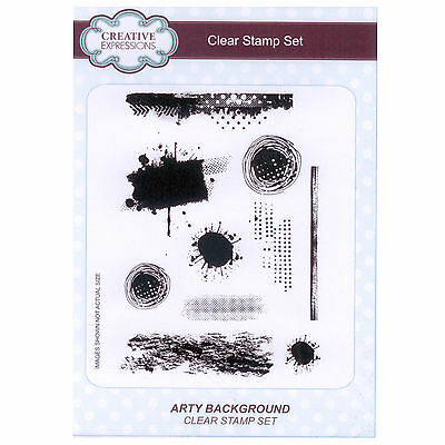 Creative Expressions A5 Clear Stamp Set - CEC784 Arty Background