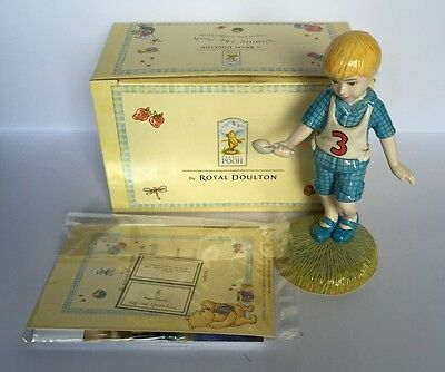 "5"" Christopher Robin Porcelain Figurine, Royal Doulton, Mint In Box"