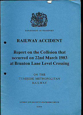 HMSO Railway Accident Report BRUNTON LANE LEVEL CROSSING 22nd March 1983