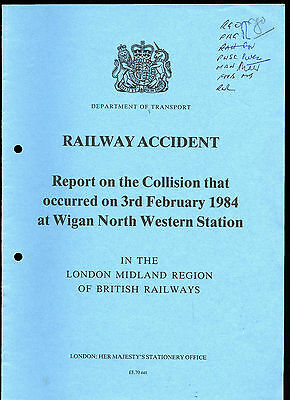 HMSO Railway Accident Report WIGAN NORTH WESTERN STATION 3rd Feb 1984