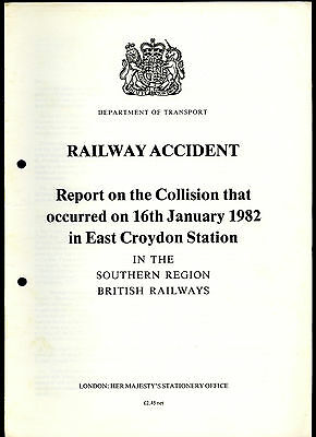 HMSO Railway Accident Report EAST CROYDON STATION 16th January 1982