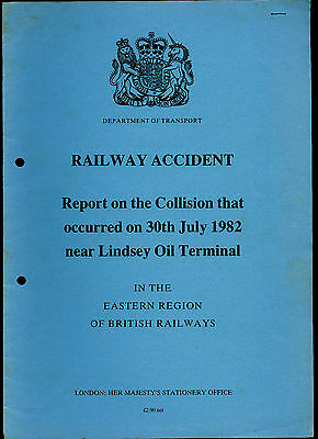 HMSO Railway Accident Report LINDSEY OIL TERMINAL 30th July 1982