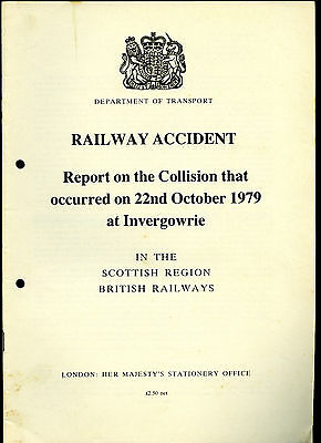 HMSO Railway Accident Report INVERGOWRIE 22nd October 1979
