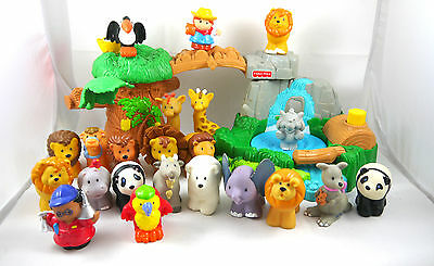 Fisher Price Little People Lot Zoo Animals & Peoples Figures + Accessories