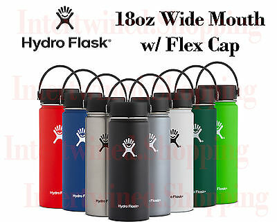 Hydro Flask Wide Mouth Flex 18oz BPA-Free Cold 24hrs Hot 6hrs Stainless Bottle
