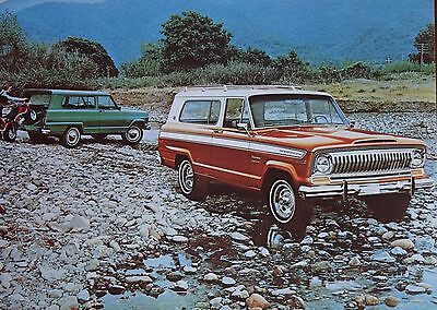 Jeep :  1974 American Motors Jeep Cherokee Dealer  Postcard
