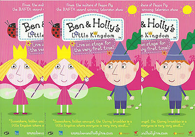 Ben & Holly's - Little Kingdom - 2013 UK Tour FLYERS x 3