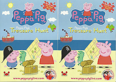 Peppa pig - Treasure hunt - 2012 UK Tour FLYERS x 2