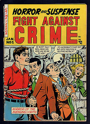 1952 Story Comics Fight Against Crime #5 GD