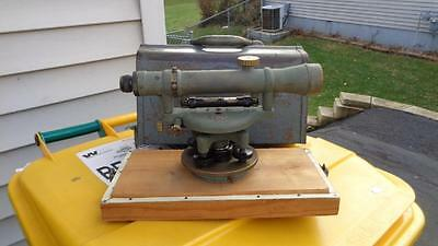 Craftsman Transit  Surveying  Equipment 13502 Vintage  Brass with Carrying Case
