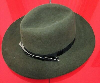 Vintage 1950'S MARYLAND STATE POLICE HAT  3XXX Beaver Quality 6 7/8
