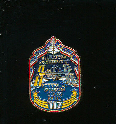 Nasa Space Shuttle Atlantis Sts-117 Iss Hat Lapel Pin Pinback Free Shipping!!!