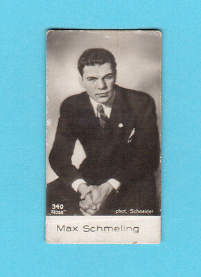 Max Schmeling Boxing Vintage 1930s Movie Film Star Cigarette Card from Germany