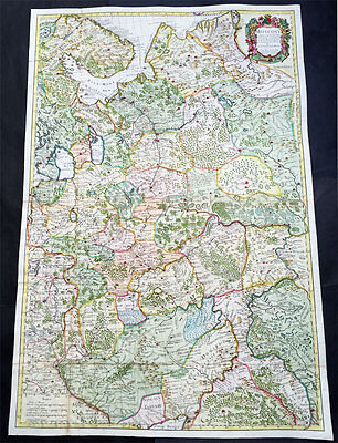 1712 Senex Very Large Antique Map of European Russia, Moscovy - Finland to Azov