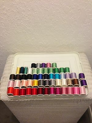 Large Lot Of 55 Spools Of #40 Coats/sulky Rayon Embroidery Thread $196.55 Value