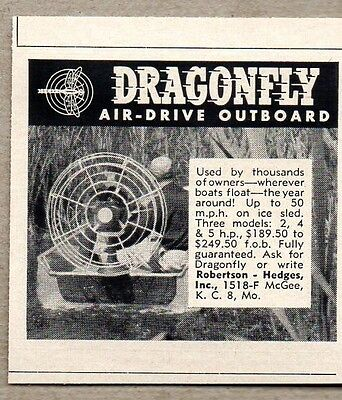 1960 Print Ad Dragonfly Air-Drive Outboard Motors Air-Boat Kansas City,MO