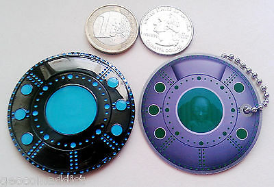 ☆ Alien Space Ship Geocoin 2 Coin Set UFO Xfiles BN Glow Area 51