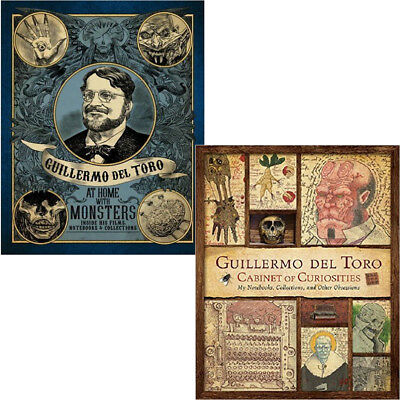 Guillermo del Toro:At Home with Monsters & Cabinet of Curiosities 2 Books SetNEW