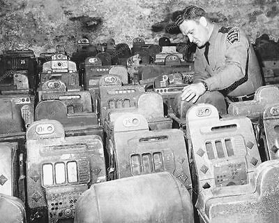 Sheriff Inspects Confiscated Slot Machines Professional Photo Lab Reprint