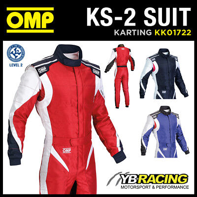 Sale! Kk01722 Omp Ks-2 Kart Karting Suit Cik-Fia Level 2 Ultra Lightweight Ks2