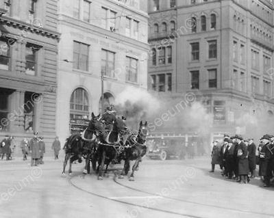 Horses Drawn Fire Engine NY Fire Dept 8x10 Reprint Of Old Photo