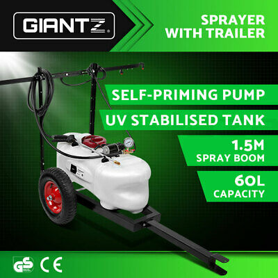 Giantz 60L ATV WEED SPRAYER SPOT SPRAY TANK Trailer Chemical Garden Farm Pump