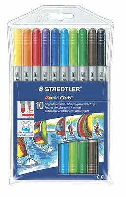 Staedtler 320 NWP10 Noris Club Art Drawing Painting Double Ended Fibre Tips Pen