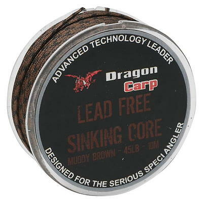 DRAGON CARP LEAD FREE SINKING CORE - MUDDY BROWN - 45lb - 10m * TO CLEAR (PU)