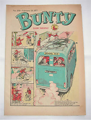 Vintage Bunty Comic No.998 February 26th 1977 – 40 years old! Top Birthday Gift!
