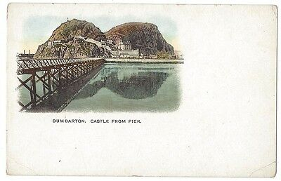 DUMBARTON CASTLE Early Postcard with undivided Back, Unused