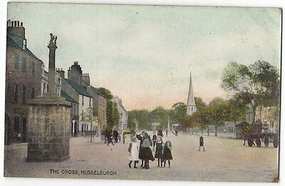 MUSSELBURGH The Cross, Old Postcard by Art Pub Co, Unused