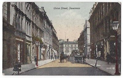INVERNESS Union Street, Old Postcard by Valentine, Postally Used 1918