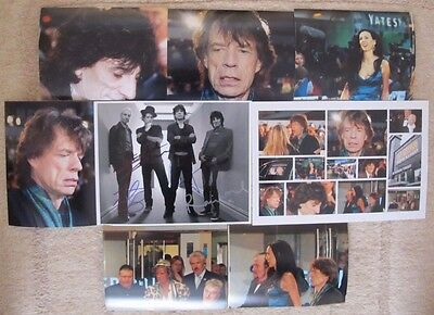 ROLLING STONES HAND SIGNED 10x8 PHOTO BY MICK JAGGER,RONNIE WOOD,KEITH RICHARDS