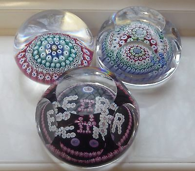 Whitefriars 3 X Paperweights