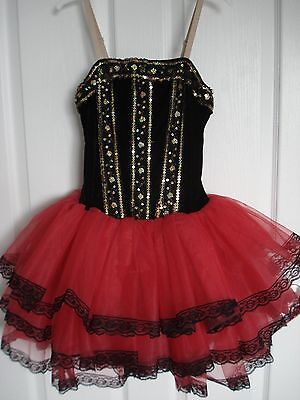 Revolution Ballet Dance Costume Size Adult Small Red/Black