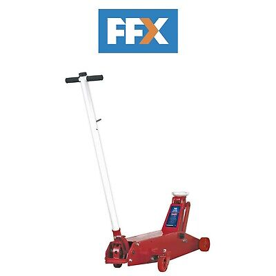 Sealey 10QJ Trolley Jack 10tonne Long Reach - Min 170mm / Max 570mm Height