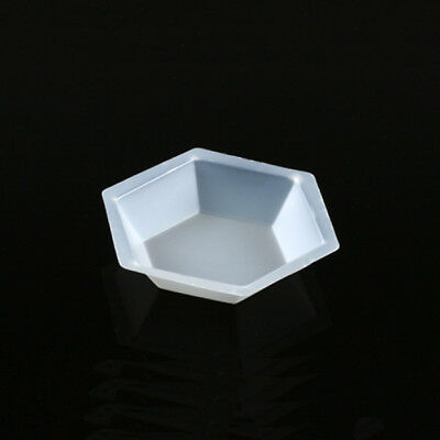 Fisherbrand Hexagonal Polystyrene Weigh Boat Dish 25/pk Top Dia: 1-1/4""