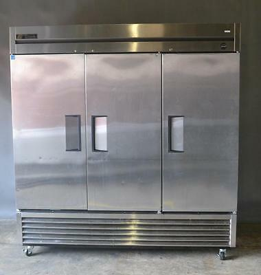 "Used True T-72 Reach In Refrigerator 78"" 3 Solid Doors 2011, Excellent Working C"