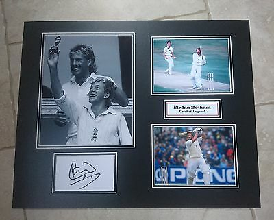 Sir Ian Botham - Cricket Legend - Huge Signed Photo Montage