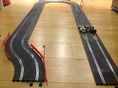 Scalextric Classic Track Ultimate Crossover Extension Set Barriers Mint Cond