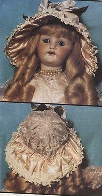 LARGE DOLL(ANY SIZE)CIRCA@1890's FRENCH WIRE HAT/BONNET PATTERN/INSTRUCTION