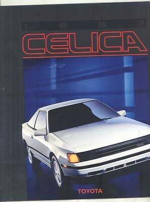 1987 Toyota Celica GT GTS ST Coupe Convertible Brochure my6646