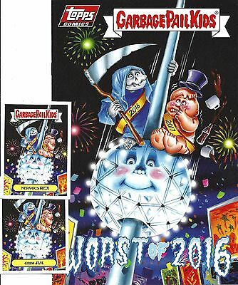Garbage Pail Kids Comic No.1 Worst Of 2016 Plus 2 Exclusive Stickers Limited Run