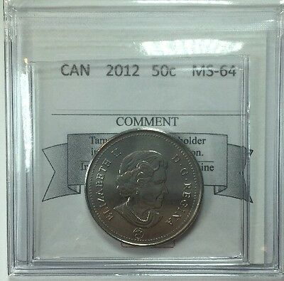 2012 Canadian Fifty Cent Coin Mart Graded MS-64