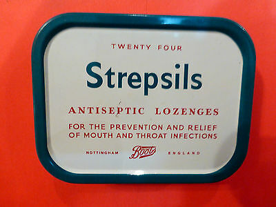 Collectable Vintage Strepsils Antiseptic Lozenges Tin