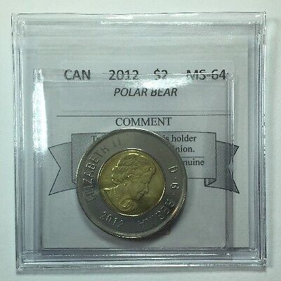 2012 Canadian Two Dollar Coin Mart Graded MS-64 Polar Bear