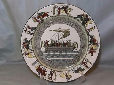 Royal Doulton Battle of Hastings Longship Bayeux Tapestry Plate D2873