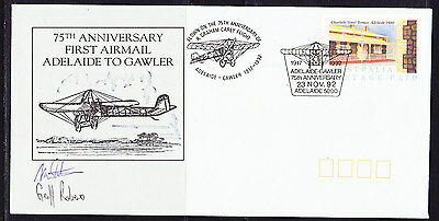 Australia 1992 - Adelaide to Gawler 75th Anniversary Flight  Covers - Signed
