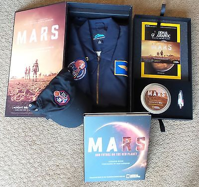 Mars National Geographic Press Kit Dvd Book Space Shuttle Daedalus Jacket Hat S