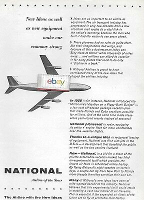 National Airlines 1959 New Ideas & New Equipment Economy Strong Boeing 707 Ad